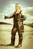 Woman in protective clothes Stock Photography