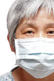 Woman with protective mask Stock Image