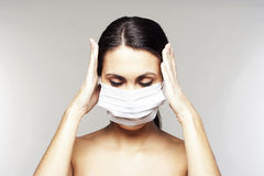 Woman with protective mask Stock Photography