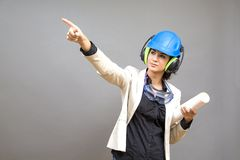 Woman in protective workwear Stock Photos