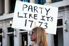 Woman Protester with Sign Royalty Free Stock Photos