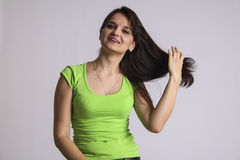 Woman proud of herself Stock Photography