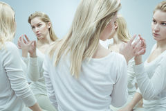 Woman in psychiatric hospital Royalty Free Stock Photography