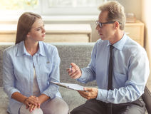 Woman at the psychotherapist Royalty Free Stock Photography