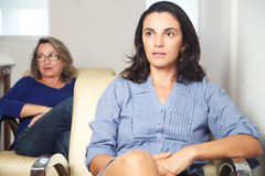 Woman at psychotherapy Stock Photos