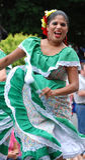 Woman from Puerto Rico at Folkmoot USA. Woman from Puerto Rico dances at the Folkmoot USA festival in Waynesville, North Carolina stock images