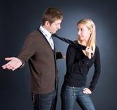 Woman Pulling A Man Stock Image