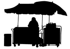 Woman pulling cart Stock Photography