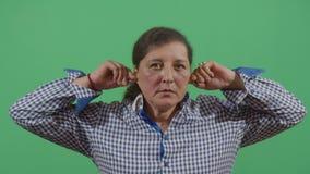 Woman pulling his ears. In Ecuador stock video