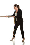 Woman Pulling Rope Stock Images