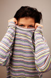 Woman in pullover Royalty Free Stock Photography