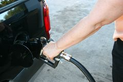 Woman Pumping Gas Royalty Free Stock Photo