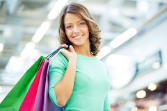 Woman with purchase Royalty Free Stock Photography