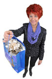 Woman with purchases Stock Photo