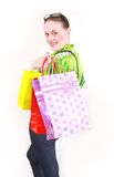 Woman with purchases Royalty Free Stock Photo