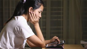 Woman purchasing on line with her laptop stock video footage