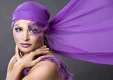 Woman in purple Stock Photos