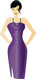 Woman in purple. Illustration with woman in purple Stock Photo