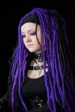 Woman with purple dreadlocks Royalty Free Stock Image