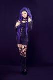 Woman with purple dreadlocks Stock Photography