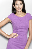 Woman in purple dress Royalty Free Stock Photos
