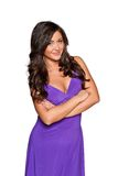 Woman in a purple dress Royalty Free Stock Photos