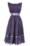 Woman purple dress in white round Stock Photography