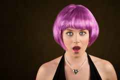 Woman with Purple Hair Royalty Free Stock Photo