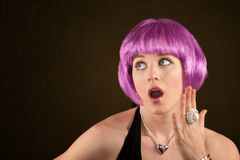Woman with Purple Hair Royalty Free Stock Photos