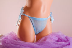 Woman purple spa disposable panties on a mannequin Stock Photography