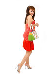 Woman With Purse Stock Photo