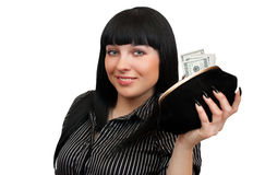 Woman with a purse Stock Image