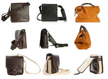 Woman purse collection Royalty Free Stock Photography
