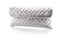woman purse silver - clipping path Stock Photo