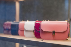 Woman purses. In a store in Paris Stock Image