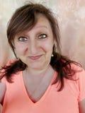Woman& que se pregunta x27; cara de s Fotografía de archivo