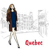 Woman in Quebec Stock Image
