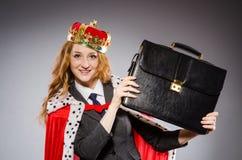 Woman queen businesswoman Stock Image