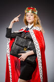 Woman queen businesswoman. In funny concept Royalty Free Stock Image