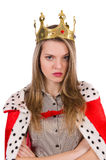 Woman queen isolated Royalty Free Stock Photos