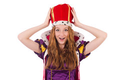 Woman queen Stock Photography