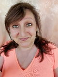 Woman& querendo saber x27; cara de s Fotografia de Stock
