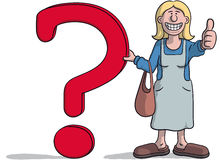 Woman with a question mark Stock Photos