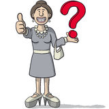 Woman with a question mark Stock Photo