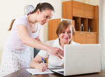 Woman questionnaire for  social worker Royalty Free Stock Images