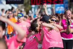 Woman Race against cancer Royalty Free Stock Photo