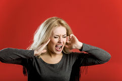 A woman in rage Stock Photo