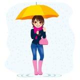 Woman In The Rain Stock Image