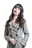 Woman in a rain coat Stock Photos