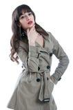 Woman in a rain coat Stock Photo